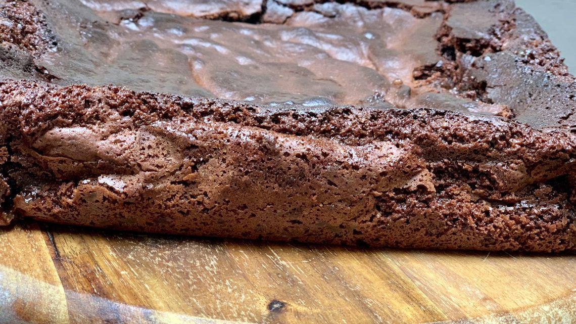 Brownie met karamel fudge